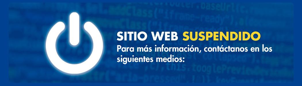 sitio web suspendido